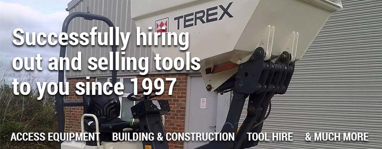 Successfully hiring out and selling tools to you since 1997