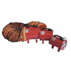 12 FAN AIR BLOWER MOVER C/W DUCTING HOSE