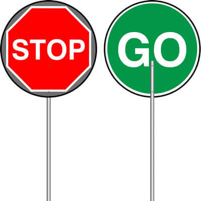 STOP & GO SIGNS